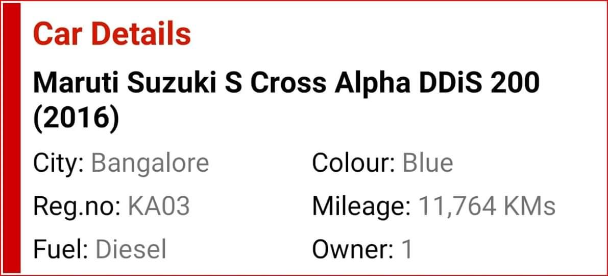 2016 Used Maruti Suzuki S Cross 1.3 ALPHA